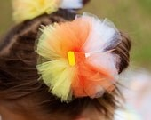 Halloween Hair Clips With Sweet Candy Corn Centers