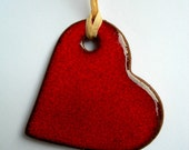 FREE SHIPPING ..  Red Heart Christmas Ornaments .. Decorations