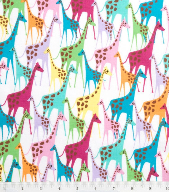 Multi color giraffe print