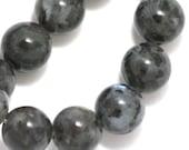 Larvikite Beads - 10mm Round - Full Strand