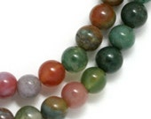 Fancy Jasper Beads - 6mm Round - Half Strand