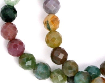 Fancy Jasper Beads - 6mm Faceted Round