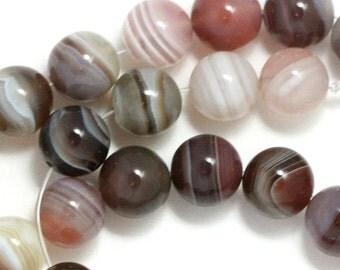 Botswana Agate Beads - 8mm Round