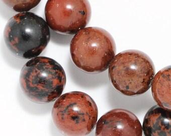 Mahogany Obsidian Beads - 10mm Round
