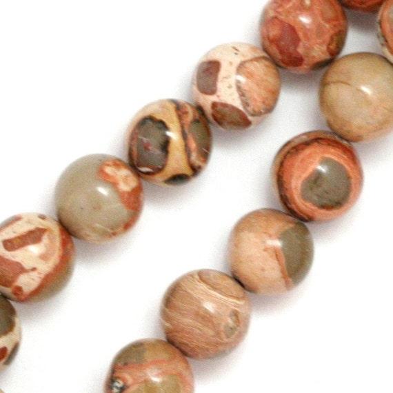 Safari Jasper Beads - 8mm Round - Half Strand