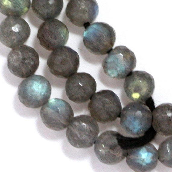 Labradorite Beads - 6mm Faceted Round - 20 Pieces