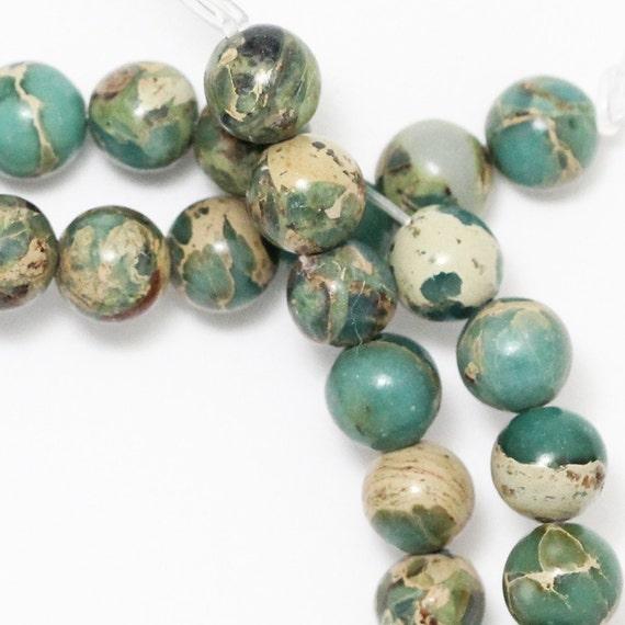 Aqua Terra Jasper Beads 6mm Round Full Strand