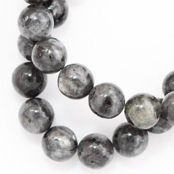 Larvikite Beads - 8mm Round
