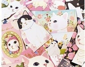 Korea creative lovely Choo Choo Cat series postcards cards/stickers set
