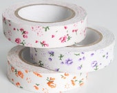3 pcs New Rural wind only beautiful multi-function  adornment Masking Tape