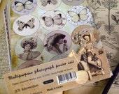 45 Sheets Korea Vintage Paper Deco Sticker Stamp