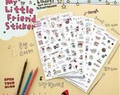 6 Sheets Korea Pretty Sticker Set -  Deco Sticker Set  -My Little Friend