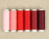 """6Pcs Superior Sewing Thread Red Series 196 Yards """" Each"""