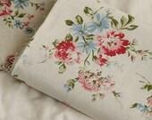 Cotton Linen Fabric Cloth -DIY Cloth Art Manual Cloth -Peony Flowers  55x19 Inches