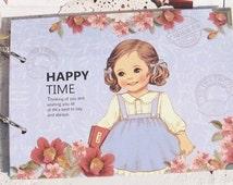 Korea DIY Kraft Paper Scrapbook Album Photo Album Sets -Cute Girl