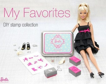 9 kinds Korea DIY Woodiness rubber stamp- barbie