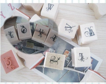1 Sets /28kinds Korea DIY  floral body letters iron boxes seal stamp set-Capital letters