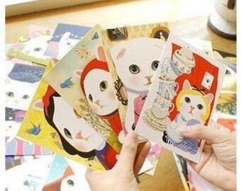 10 Sheets Korea creative lovely Choo Choo Cat  series postcards/card