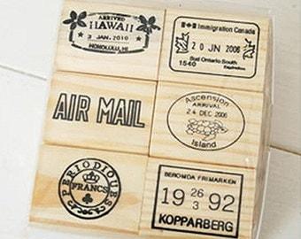 1Sets /6 kinds Korea Journey Postmark Stamps set -D