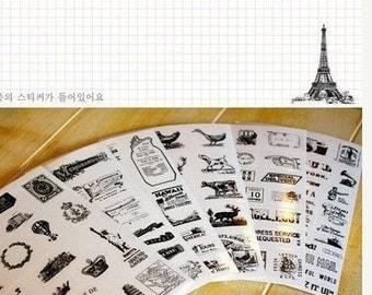 6 Sheets Korea Pretty Sticker Set - Decoration Colorful Paper Sticker