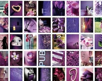 40 kinds Korea DIY Picture stickers seal stickers--Purple