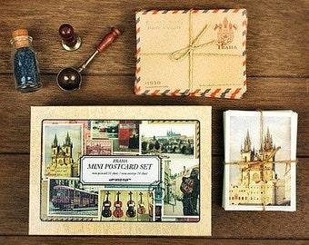 Korea DIY European Wind Antique Style Vintage Card & Envelope Set - Praha