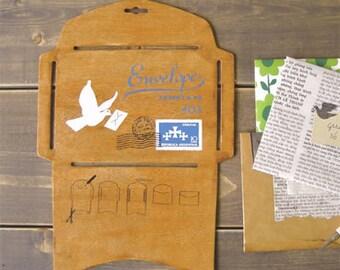 Japanese Wood Envelope Template Antique Wooden DIY Envelope (((Big Size)))