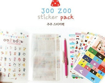 8 Sheets Korea DIY Kawaii Diary Pretty Sticker Set - Deco Translucent Sticker Set
