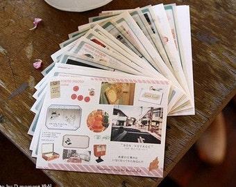 14 Sheets Korea Pretty Sticker Set - Deco Sticker Set - Road and Tokyo