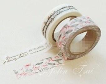 2 Rolls Japanese Washi Tape Masking Tape decoration Tape 10m