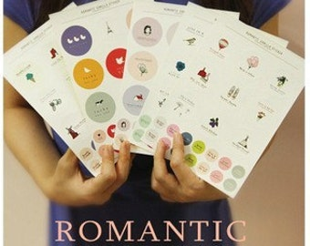 5 Sheets Korea DIY diary adornment stickers set