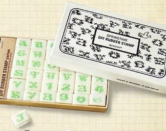 30 Kinds Korea DIY Rubber Stamp-Floral Body Letters Seal Stamp Set