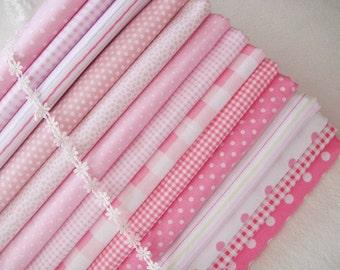 "Cotton Fabric Cloth -DIY Cloth Art Manual Cloth - Fabric Set 14'Pieces 12 x8 Inches "" Each"