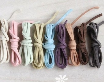 9Pcs Suede Leather String Leather Ribbon Cords Hide Rope String