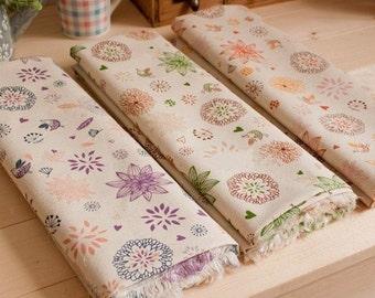 Cotton Linen Fabric Cloth -DIY Cloth Art Manual Cloth 57x19 Inches