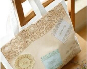 Cotton Linen Fabric Cloth -DIY Cloth Art Manual Cloth -Beautiful Lace 54x30Inches