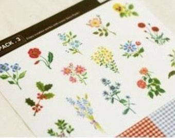 16 Sheets Korea Pretty Deco Sticker Set Rural wind only beautiful multi-function adornment Sticker Set