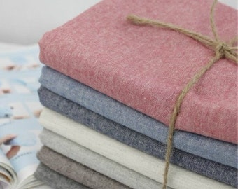 Cotton Linen Fabric Cloth -DIY Cloth Art Manual Cloth -Plain Coloured Cotton Fabric 53 x18 Inches
