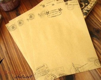 16 Sheets Kraft Paper Letter Writing Paper Sets-Postmark