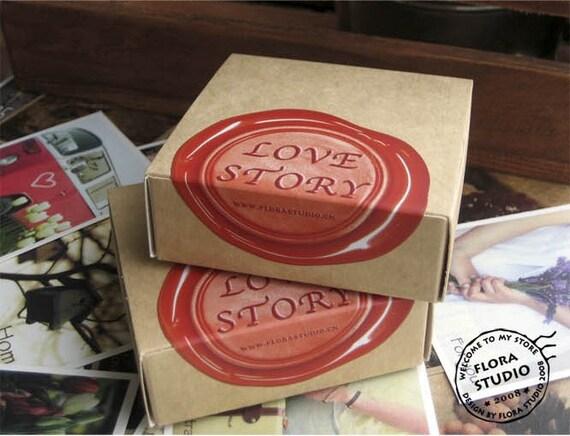 1Sets /70 kinds Korea DIY vintage cards kraft paper box Love Story the seal cards