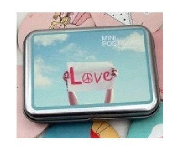 Korea Soulmate Peninsula  iron boxes  mini card -- Love