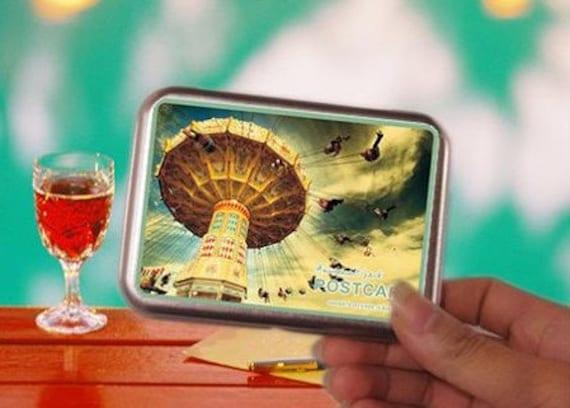 Korea DIY iron boxes world image photo stickers and cards---playground