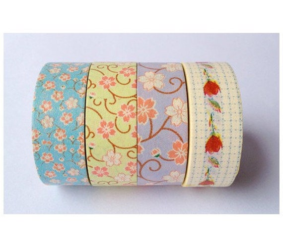 4 Rolls Japanese Washi Tape Masking Tape decoration Tape