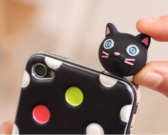 Sweet Bow Earphone Plug iPhone Cute Cute Little Animal Earphone Plug