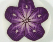 Polymer Clay Cane - Purple Spotted Flower