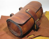 Economy Barrel Hip Bag - Brown Streaked