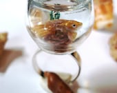 Gold Fish Ring Miniature Pet On The Go Goldfish Fake Water Rock Water