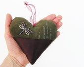 Decor textile heart - donated for charity  by loddelina