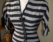 Chic vintage asymetric jacket/ top black and gray