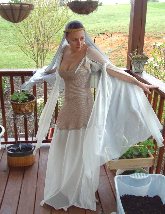 Lighter than air Elven/ Medieval lady gown